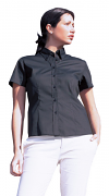 UC704 Ladies Pinpoint Oxford SS Shirt