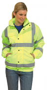 UC804 High Visibility Bomber Jacket (Padded & Lined)