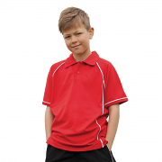 LV372 Kids Piped Performance Polo