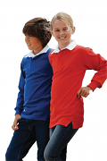 FR109 Kids Long Sleeve Plain Rugby Shirt