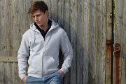 SS222 Zip through hooded sweatshirt