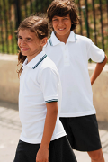 HB459 65/35 kid's tipped polo