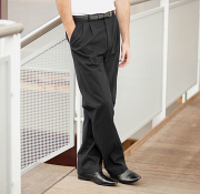 HB600 Teflon® coated pleated chino trousers