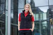 HB856 Women's sleeveless micro fleece jacket