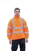 HV072 High visibility full zip fleece
