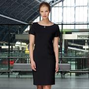 Brook Taverner Teramo Shift Dress in Black
