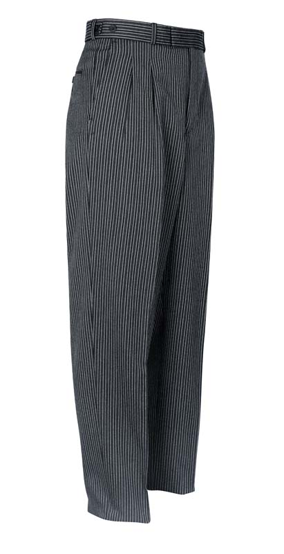 Brook Taverner Dresswear Striped Trouser Pleated Front