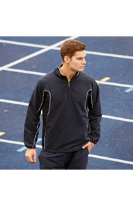Half zip unlined training top