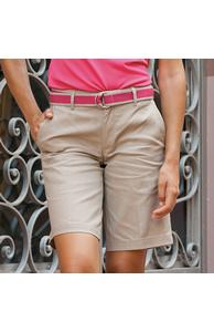 Women's Teflon®-coated flat fronted chino shorts