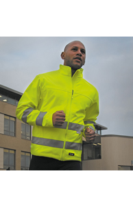 High-viz softshell jacket EN471 Class 2