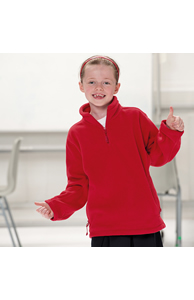 Kids ¼ zip outdoor fleece