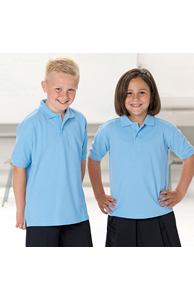 Kids hard-wearing polo shirt