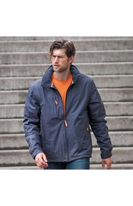 Score contrast detachable sleeve blouson jacket