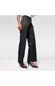 Women's flat front hospitality trousers - bootcut