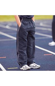 Kids teamwear open hem lined training bottoms