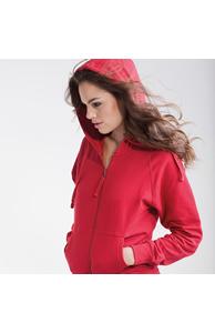 Women's zip through hoodie jacket