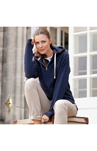Women's zip-through hoodie