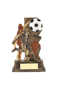 DL003 Football Resin III (Footballer & Ball)