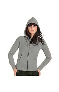 B&C Hooded full zip /women