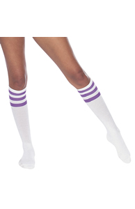 Women's stripe knee-high sock (RSASKL)