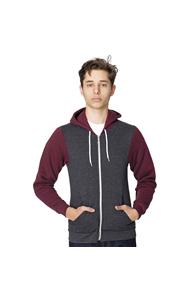 Two-tone flex fleece zip hoodie (F497)