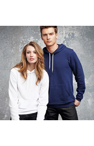 Unisex polycotton fleece pullover hoodie