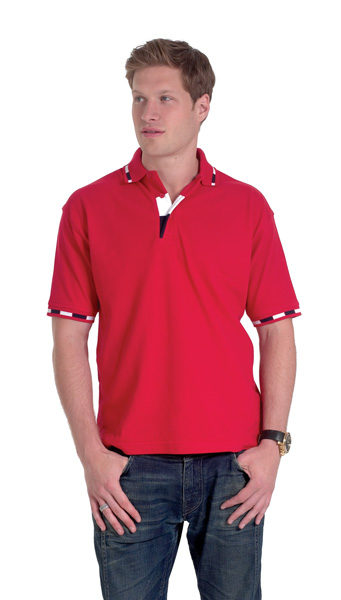 Uneek UC111 Tri-Coloured Jacquard Pique Polo Shirt