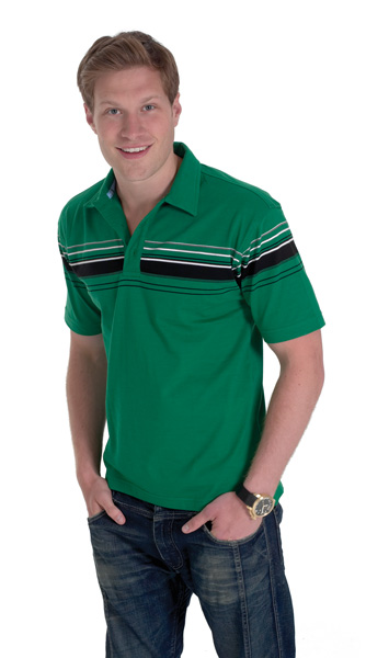 Uneek UC119 Chest Stripe Jersey Polo Shirt