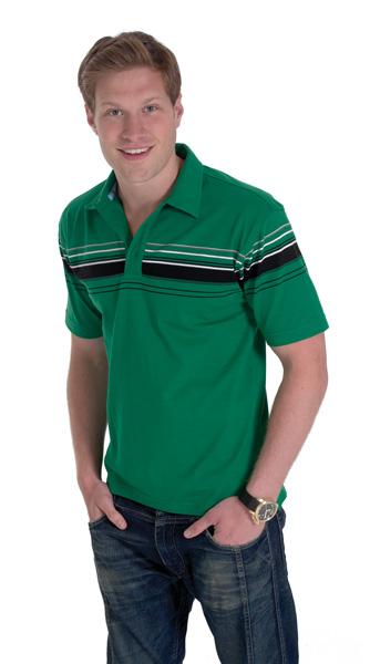 Uneek UC119 Chest Stripe Jersey Polo Shirt