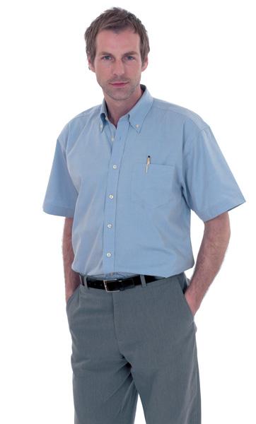 UC702 Mens Pinpoint Oxford SS Shirt