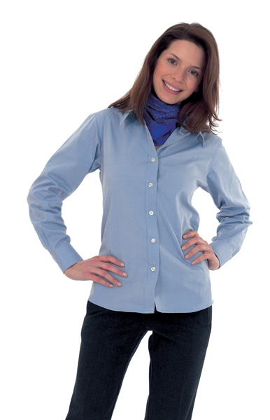 UC703 Ladies Pinpoint Oxford LS Shirt