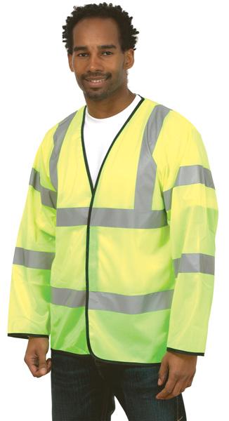 Uneek UC802 Long Sleeve Safety Waistcoat