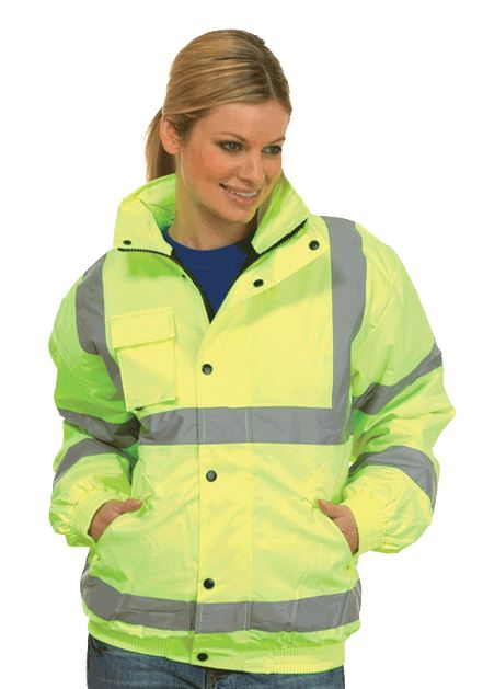 Uneek UC804 High Visibility Bomber Jacket (Padded & Lined)