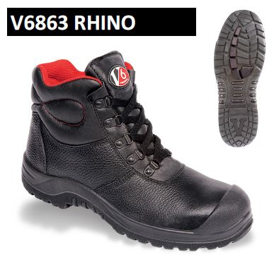 V6863 Rhino S3 Safety Boot by V12 Footwear with FREE DELIVERY