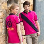 Women's diagonal stripe piqué polo shirt - tag-free